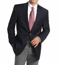 Michael Kors Regular Fit Solid Navy Blue Two Button Wool Blend Blazer Sportcoat