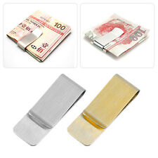 Men Stainless Steel Money Clip Cash Note Credit Card Holder Wallet Purse SM