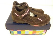 NWB STRIDE RITE YOUTH GIRL'S MULTIPLE SIZES FELICITY T STRAP DK BROWN SHOES *281