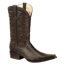 Mens Brown Deer Print Western Cowboy Leather Boots BONANZA 51508 Size 6-12 (D,M)