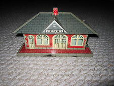 Vintage Marx Girard Whistling Train Station O Scale Working
