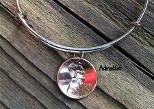 1944 LUCKY COPPER PENNY SILVER WIRE BANGLE CHARM BRACELET 72nd BIRTHDAY GIFT BOX