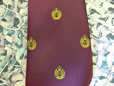 Royal Engineers Regimental (Crest) Tie Maroon RE