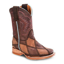 Kids Brown Rodeo Collection Western Leather Cowboy Boots BONANZA 3200 Size 7-1.5