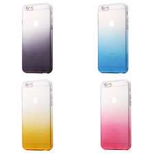 Ultra Thin Gradient TPU Rainbow Bumper Clear Case Cover For IPhone 6s 6