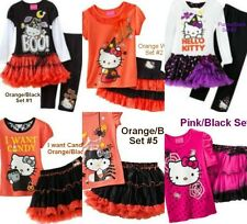 * NEW GIRLS 2PC Hello Kitty Halloween Costume TUTU OUTFIT SET 2T 3T 4T 5 6