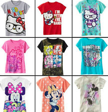 * NWT NEW GIRLS HELLO KITTY MINNIE MOUSE MONSTERS HIGH SHIRT 10 12 14 16