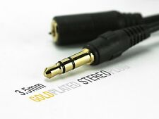 3.5mm Stereo Jack Male to Female Audio Cable 1m, 1.5m, 2m, 3m, 5m, 10m, 15 Meter