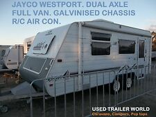 DUAL AXLE JAYCO WESTPORT FULL CARAVAN WITH ISLAND BED, ANNEX & R/C A/C