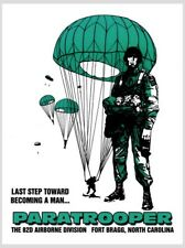 Becoming A Man Last Step Paratrooper 82nd Airborne Recruiting Poster