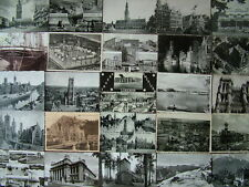 100 BLACK & WHITE FOREIGN / OVERSEAS  Postcards. 1950's onwards. Used & Unused.