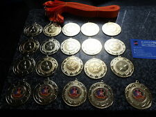 JOBLOT OF 20 - DANCE  -  MEDALS WITH ORANGE  - RIBBONS