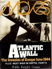 "SPI Moves Magazine #42 ""Atlantic Wall, The Next War"" Mag VG"