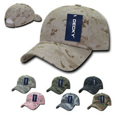 New DECKY Structured Camo Low Crown Pre Curved Bill Dad Caps Hats Hat Cap