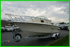 2002 Bombardier Fish Hawk WA Cuddy 24ft Dual Evinrude 150HP Engines