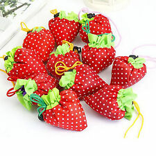 Durable  Foldable Storage Strawberry Eco Reusable Shopping Recycle Grogery Bag