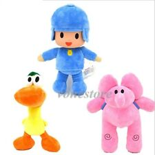 Bandai Set Pocoyo Elly Pato Loula Soft Plush Stuffed Figure Baby Toy Doll NEW