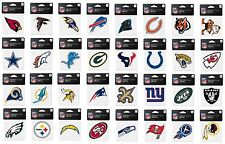 """NFL Assorted Football Teams Logo Wincraft 4"""" x 4"""" Color Perfect Cut Decal NEW!"""
