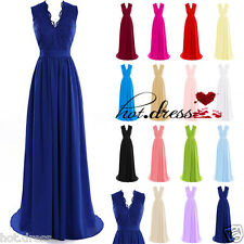 2016 STOCK Hot Formal Wedding Bridesmaid Evening Dress Prom Party Ball Gown 6-20