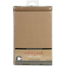 Value Pack Cards & Envelopes 4 Inch X 5.5 Inch 25/Pkg-Kraft 843094017963