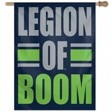 "NWT NFL Seattle Seahawks Wincraft 27"" x 37"" Legion of Boom Vertical Flag NEW!"
