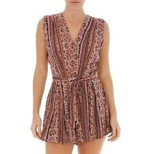 BROWN BLACK ALLY PLAYSUIT SHORTS, RRP $36 Size 10
