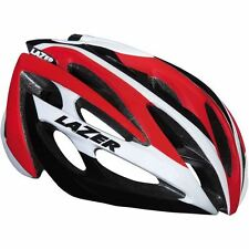 Lazer Cycle Helmet O2 White/Red M/L