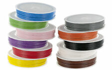 7/0.2mm Stranded Core Equipment /Hook up Wire 10m Spools Various Colours