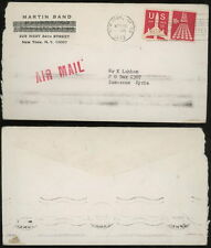 NY 1973 airmail cover to Syria receiver 10c 11c