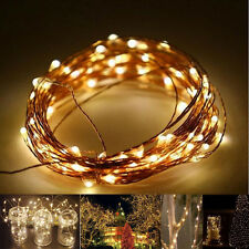 10pc Copper Wire Fairy Starry String Led Lights Home Party Decoration Christmas