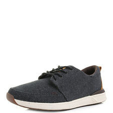 Mens Reef Rover Low TX Black Gum Lightweight Canvas Trainers Shoes Shu Size