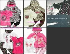 * NEW GIRLS 3PC Nannette ZEBRA LEOPARD WINTER SWEATER OUTFIT SET 12M 18M 24M