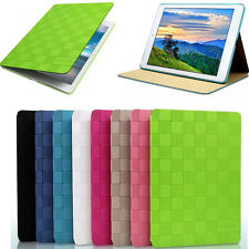 Luxury Leather Classic Grid Smart Stand Cover Case For iPad air2 iPad mini1 2 3