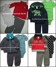 * NWT NEW BOYS 3PC CARTERS SWEATER WINTER OUTFIT SET NB 3m