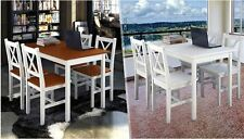 5-Piece pine Wooden Dining Table Set Kitchen Furniture