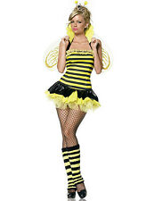 NWT SEXY QUEEN BEE HONEY BUMBLEBEE black yellow Halloween Cosplay Costume