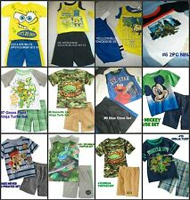 *NEW BOYS JAKE MICKEY SPONGEBOB NINJA Summer OUTFIT SET 2T 3T 4T 5 6 7