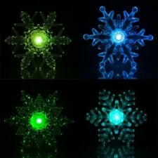 LED Snowflake alternating color Window decor Weihnachen Christmas lights Deco
