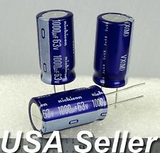 1000uF 63V Nichicon VX Series Electrolytic Capacitors 85C 3 / 10pcs USA Shipping