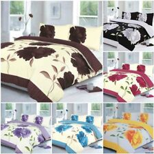 NEW ROSALEEN FLORAL DUVET COVER BEDDING SET SINGLE DOUBLE KING SUPERKING SIZE