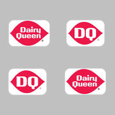 4 - DAIRY QUEEN & DQ LOGO  DECAL STICKERS
