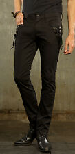 LIP SERVICE - STEP IN TIME - GYPSY STEAMPUNK PANTS SOLID BLACK