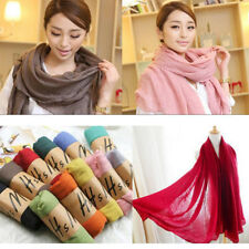 Ladies Women Fashion Pretty Long Soft Chiffon Scarf Wrap Shawl Stole Scarves