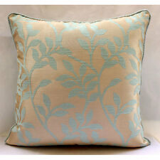 """Leafy Heaven - Blue Jacquard Weave 14""""x14"""" Pillow Covers Decorative TAPESTRY EDH"""