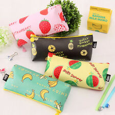Cute Fruit Students Pencil Case Pen Storage Bag Coin Pouch Purse Cosmetics Case