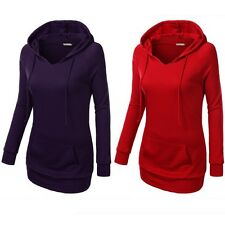 Women Ladies Long Sleeve Pullover Hoodie Jacket Sweater Coat Hooded Jumper Tops