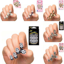 Acrylic Designer Nail Tips False French Full Fake Nails Art Nail Tips 24pcs/Set