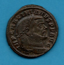 GENUINE ROMAN BRONZE FOLLIS COIN OF MAXIMIANUS  (286 - 310 AD). LOVELY CONDITION