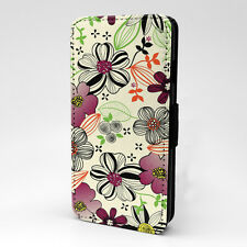 Flowers Vintage Pattern Flip Case Cover For Samsung Galaxy - G994