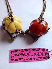 Betsey Johnson Bright and colorful pumpkin can open pendant necklace #129